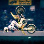 Salto mit dem Motorrad
