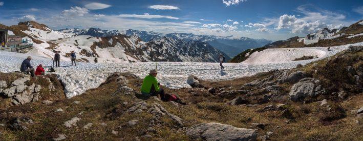 Alpen Panorama am Nebelhorn