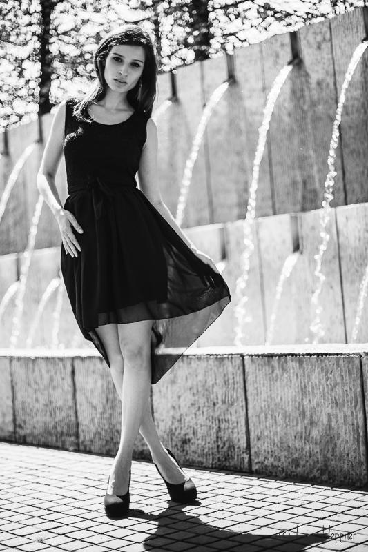 Schwarz-Weiß Portrait - Anna