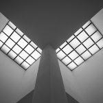Architektur Fotografie: Deckenwände in einem Gebäude der Museuminsel Hombroich