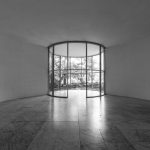 Architektur Fotografie: Ein runder Raum in der Museumsinsel Hombroich