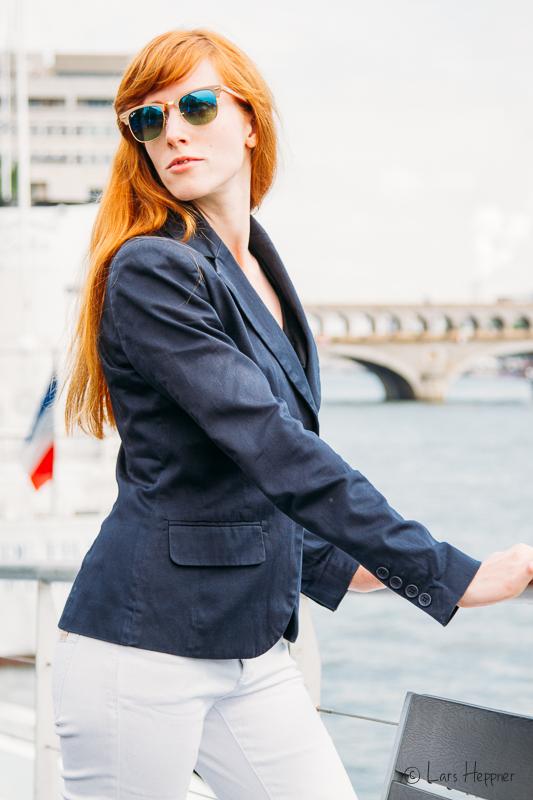 Mit Ari Campari am Ufer der Seine in Paris