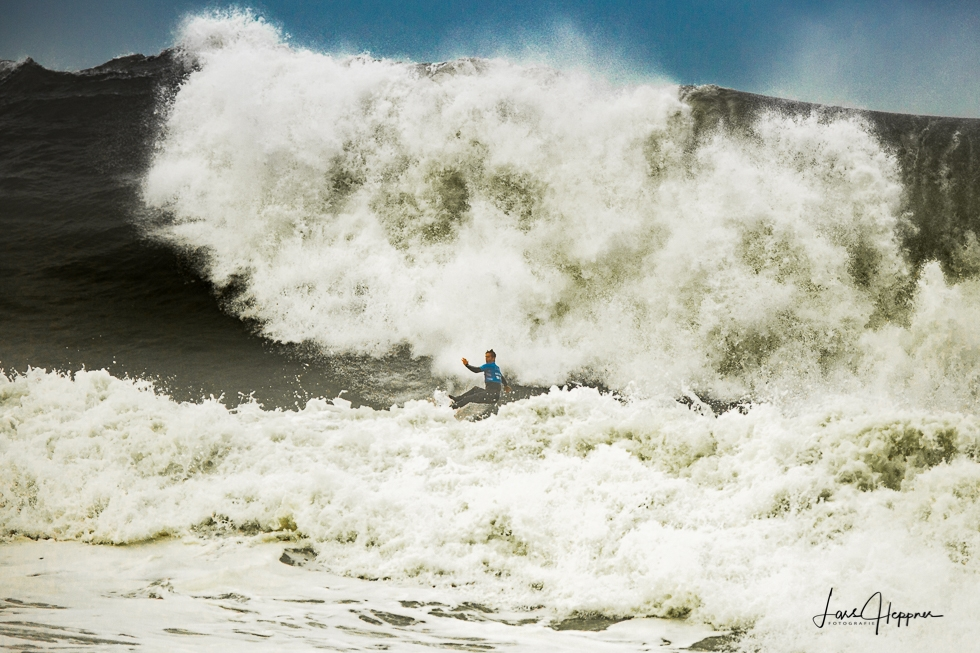 Big Wave Surfer in Nazaré
