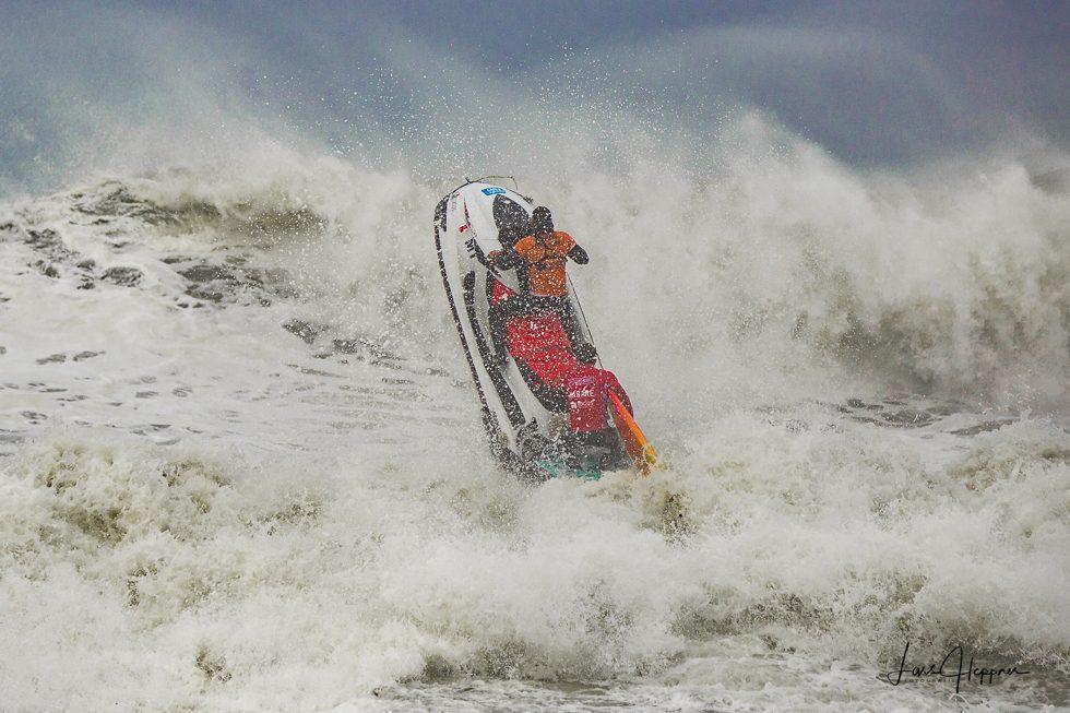 Jetski Einsatz beim Big Wave Surfcup in Nazaré