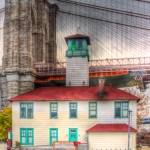 Ice Cream Factory an der Brooklyn Bridge in HDR