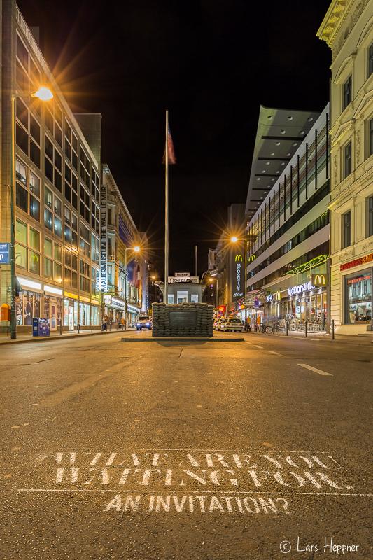 Grenzübergang Checkpoint Charlie in Berlin
