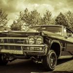 Chevrolet Oldtimer in Sepia