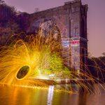 Lightpainting beim Dortmunder Aquedukt