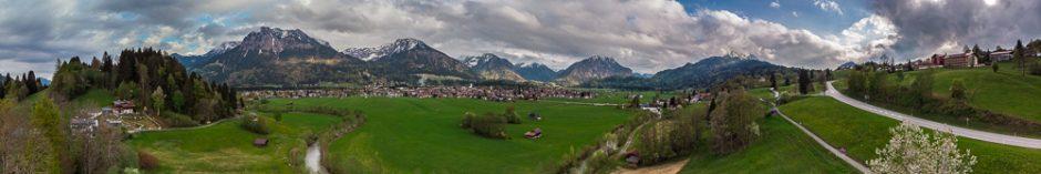 Drohnenpanorama Oberstdorf
