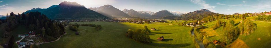 Panorama mit der Drohne DJI Mavic Air