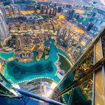 Dubai Burj Khalifa: Ausblick auf die Wasserspiele