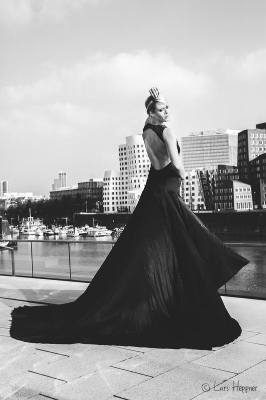 Fashion-Shooting in Düsseldorf Medienhafen