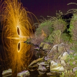Lightpainting: Feuerrad am Kemnader See
