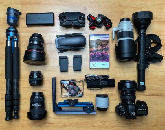 Auszug meiner Fotoausrüstung für die Lofoten