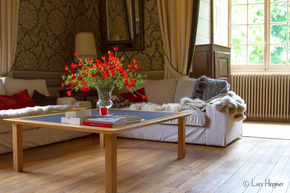 """Im Wohnzimmer des """"Chateau de l'Islette"""""""