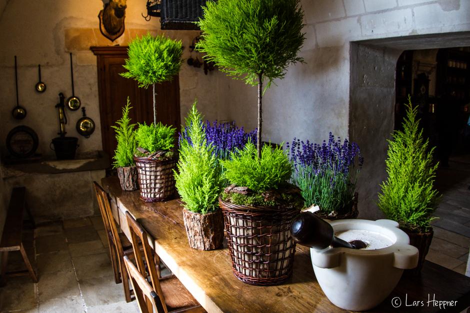 Küche im Schloss Chenonceau