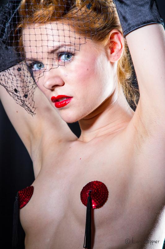 Burlesque Portrait: Shooting mit Amethysta