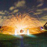 Feuerkreis beim Light-Painting