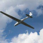 Segelflieger bei der Landung