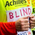 Blinder Teilnehmer beim New York City Marathon 2013