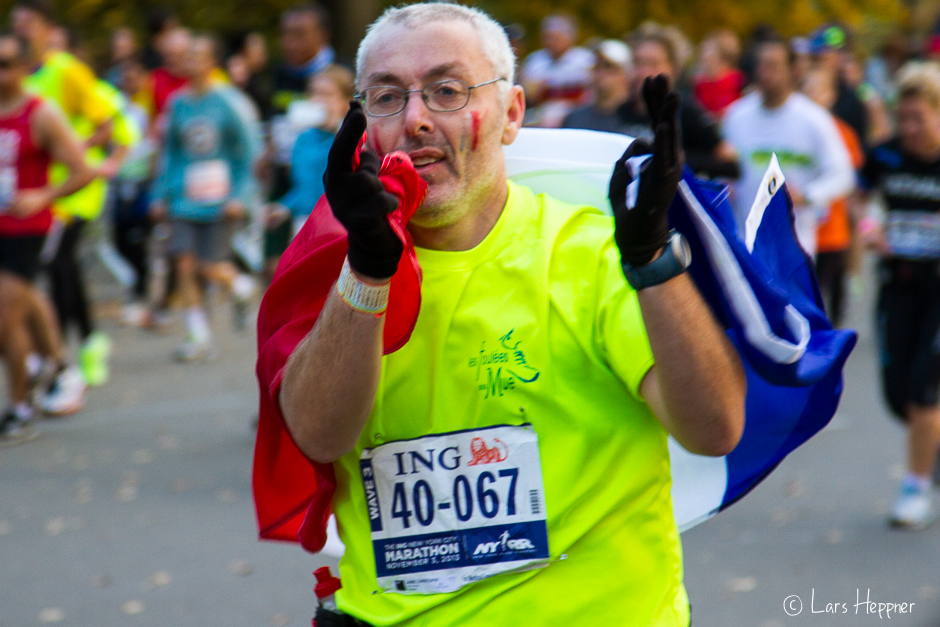 Zieleinlauf beim ING New York City Marathon 2013