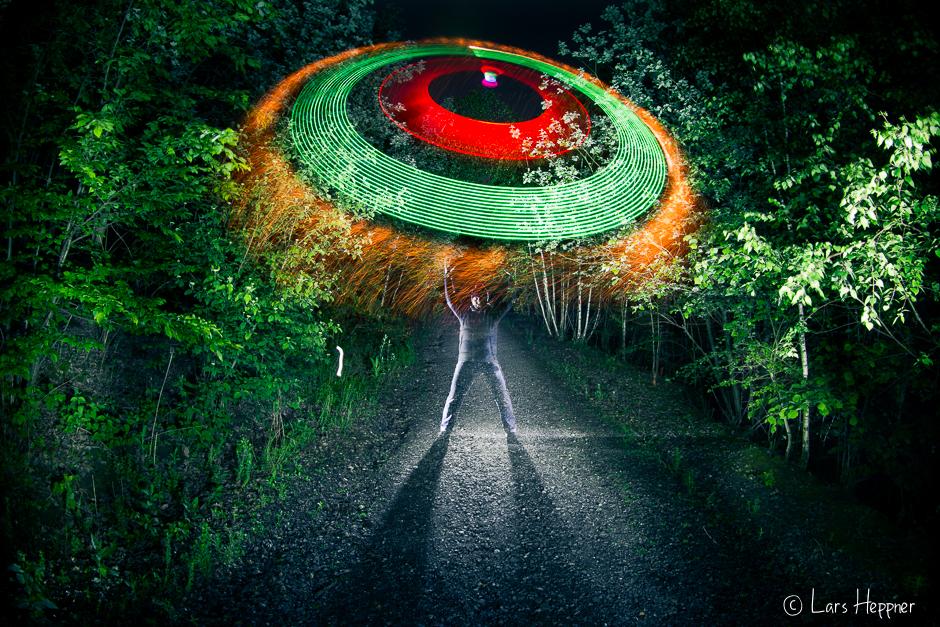 Light Painting: Kindnapped in the Twilight oder vom UFO entführt