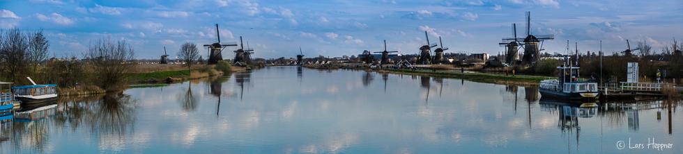 Die Windmühlen von Kinderdijk zählen zum UNESCO Weltkulturerbe