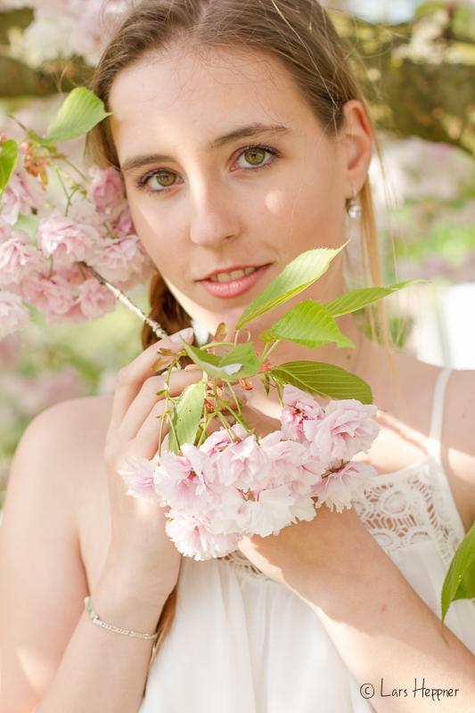 Shooting im Westfalenpark während der Kirschblüte
