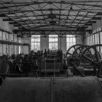 Maschinenhalle Kokerei Hansa schwarz-weiss