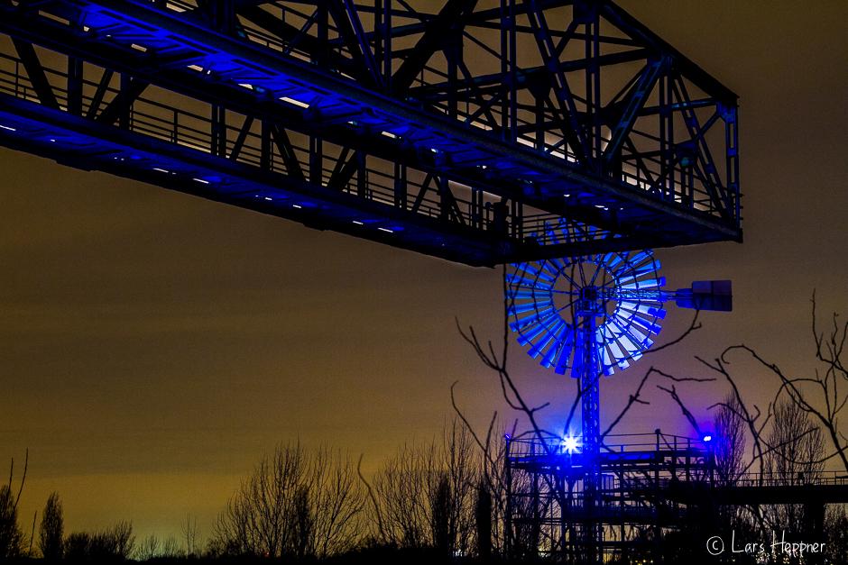 Landschaftspark Duisburg-Nord bei Nacht