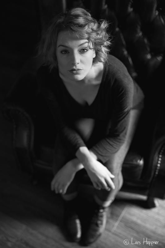 Schwarz Weiß Portrait von Model Lani
