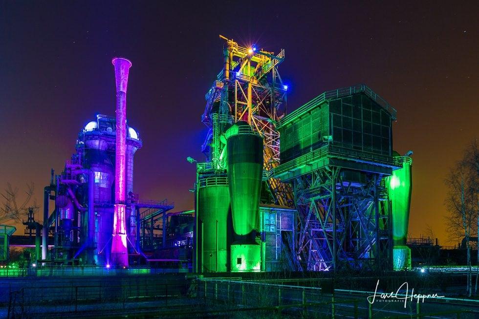 Lanschaftspark Duisburg Nachts