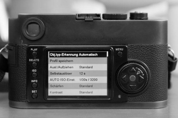 Das Benutzermenu der Leica Monochrom