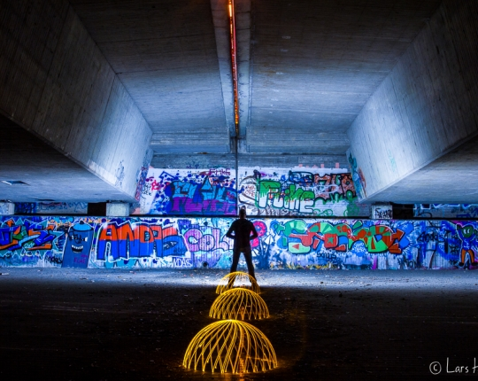 "Light Painting ""Under the bridge"""