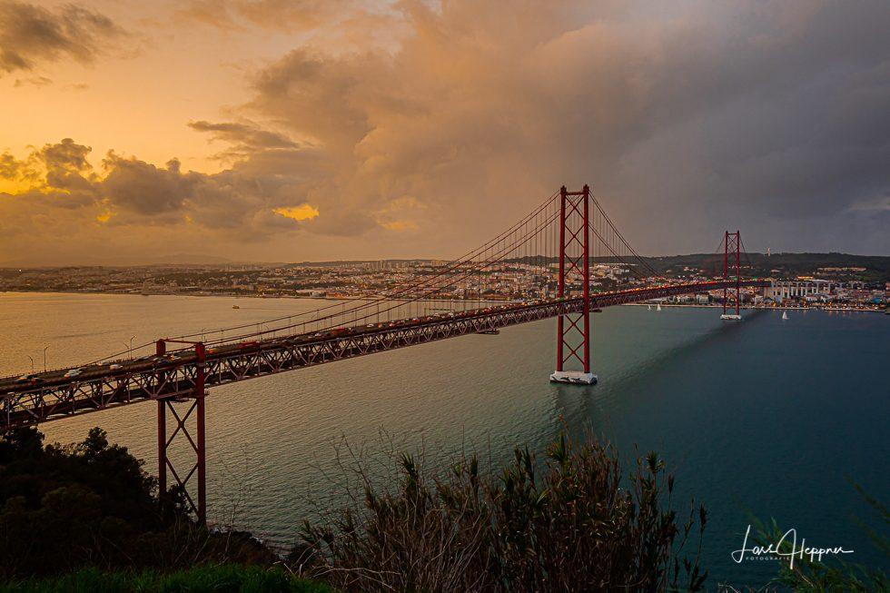 Lissabon Brücke Sonnenuntergang