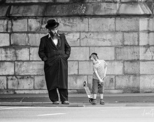 Street-Fotografie im jüdischen Viertel <br/>in Antwerpen