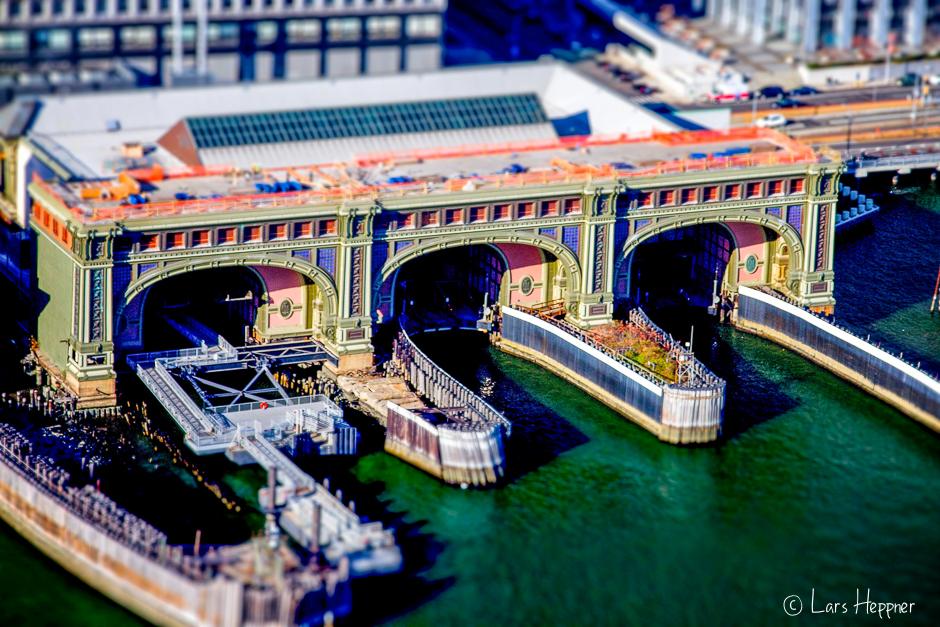 Ferry Island Harbour (tiltshift)