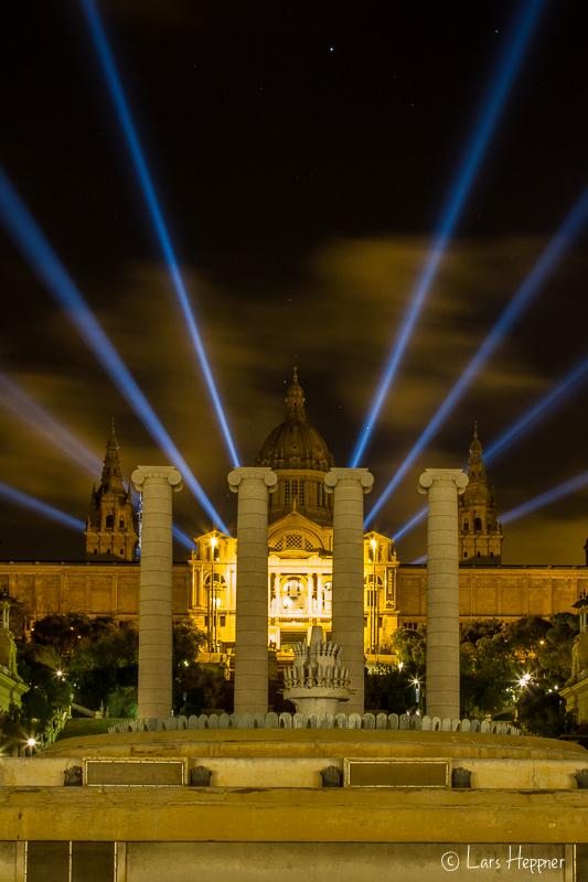 Lasershow am National Museum Barcelona