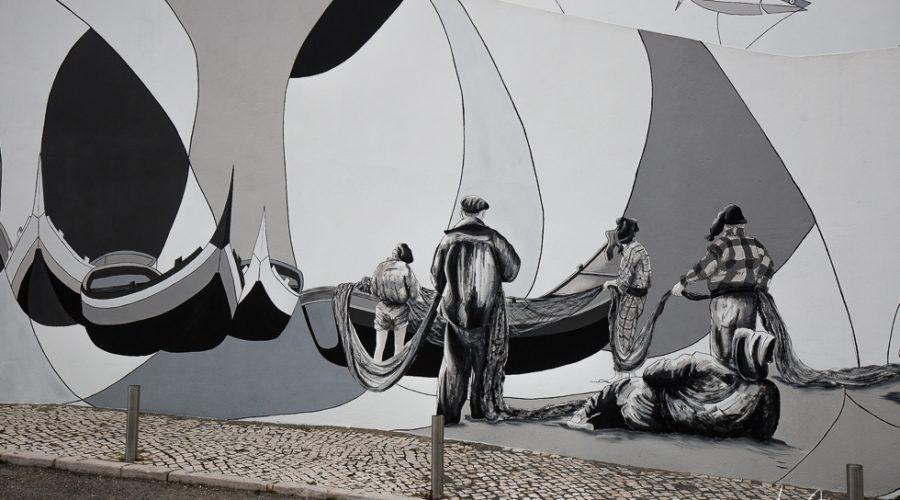 Straßenkunst in Nazaré