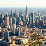 New York Skyline aus der Luft