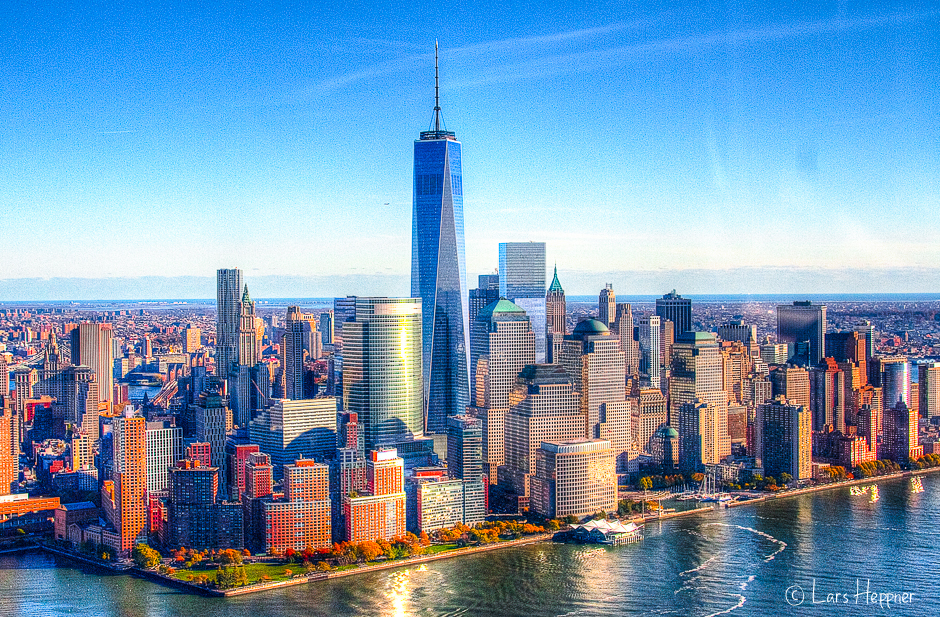 New York Skyline aus der Luft (DRI)