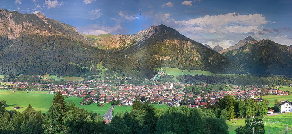 Alpenpanorama von Oberstdorf