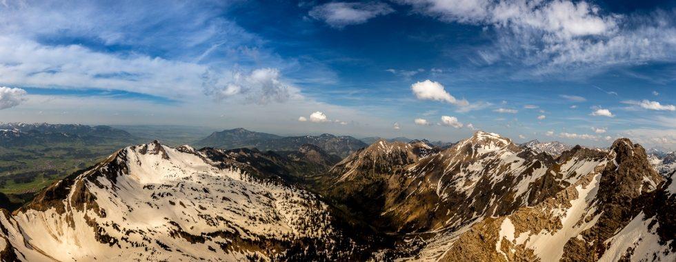 Alpenpanorama am Nebelhorn