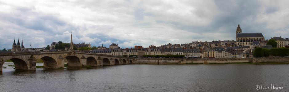Panorama Foto der Stadt Blois an der Loire