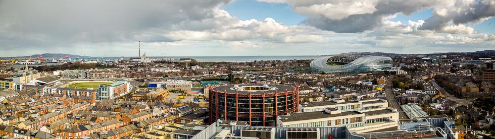 Streetfotografie Dublin: Panoramabild der Stadt Dublin