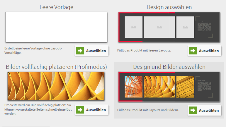 Fotobücher Saal-Digital: Design-Assistent