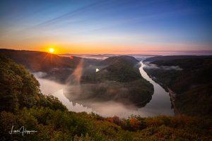 Morgennebel an der Saarschleife