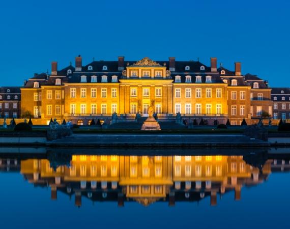 Die blauen Stunde am Schloss Nordkirchen