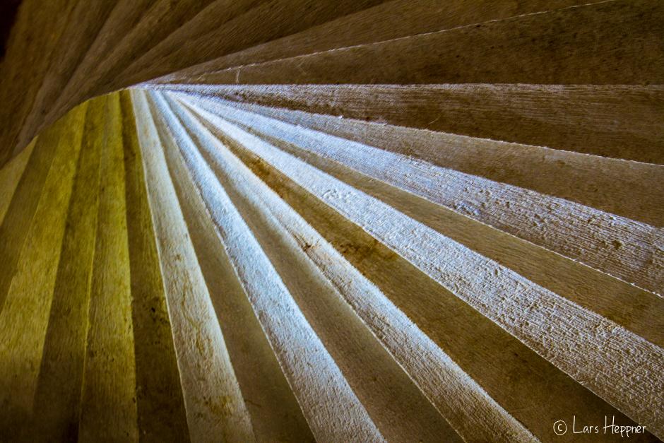 Treppenstufen im Chateau de l'Islette