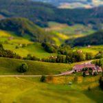 Panoramabild Schweiz tiltshift